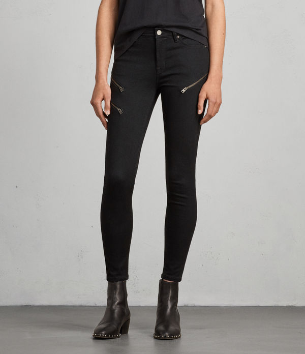 Grace Zip Ankle Super Skinny Jeans