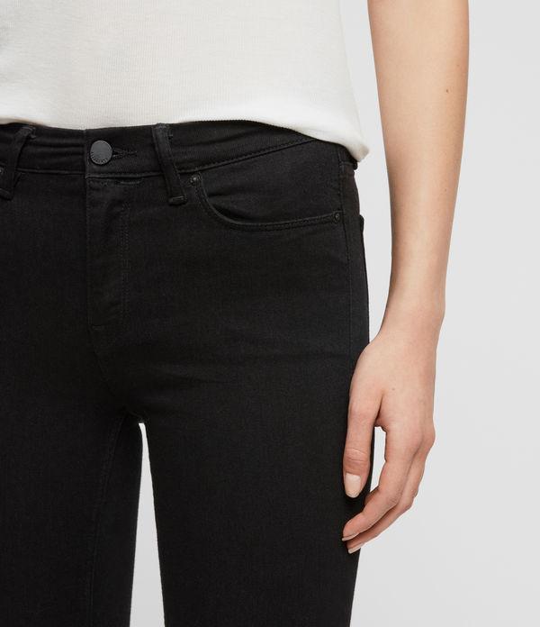 Grace Skinny Mid-Rise Jeans, Jet Black