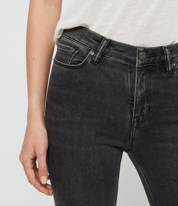 Grace Body Shaping Skinny Mid-Rise Jeans, Washed Black