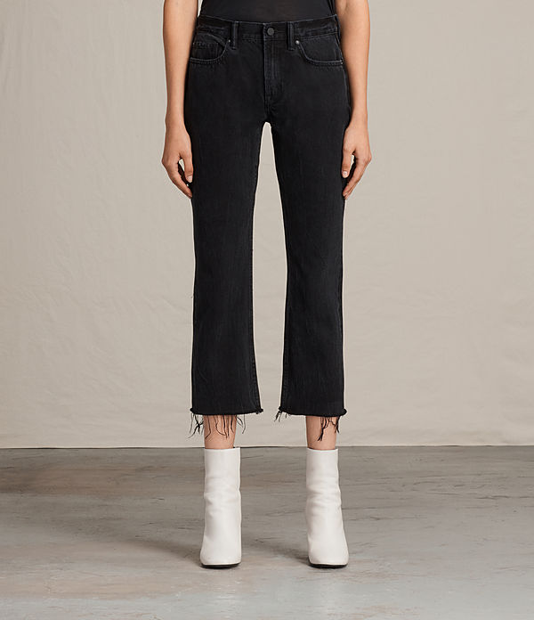 serene cropped kick flare jeans