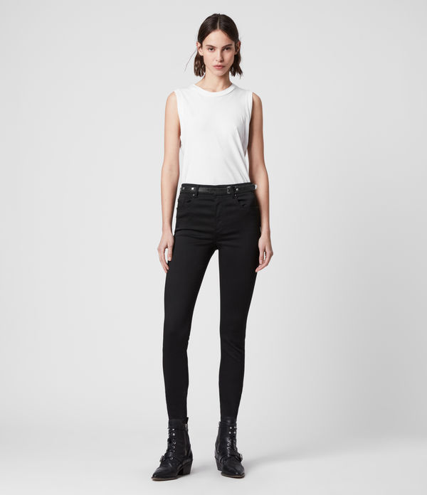 miller mid-rise superstretch skinny jeans, stay black