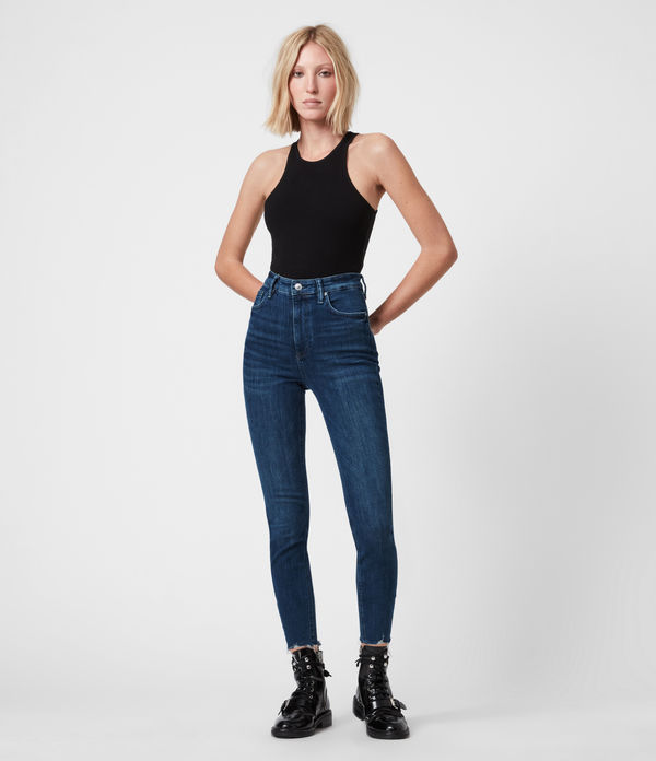 Sadie Sky High Superstretch Skinny Jeans, Dark Indigo