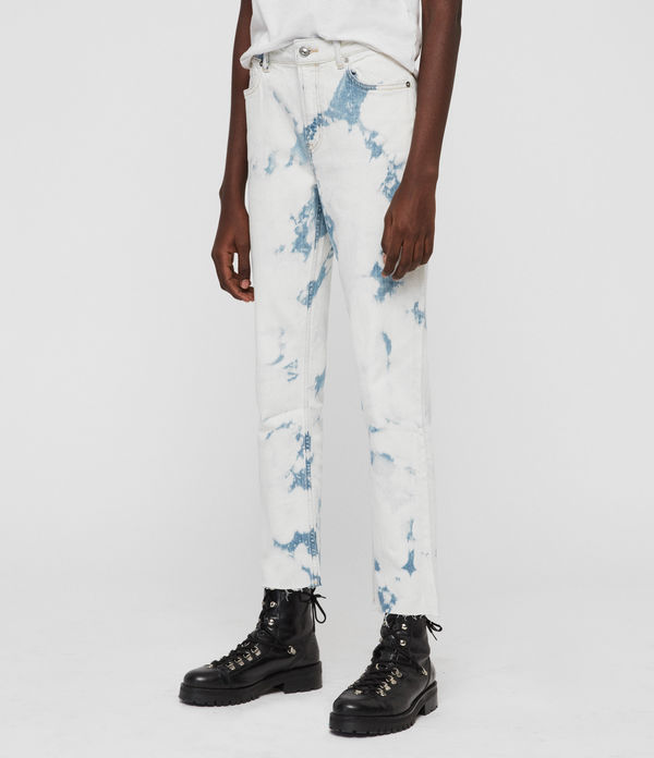 Ava Straight High-Rise Jeans, Punk Bleach Blue