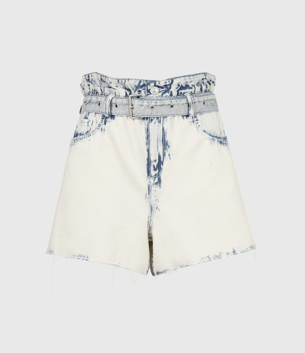 Filly Paperbag Denim Shorts