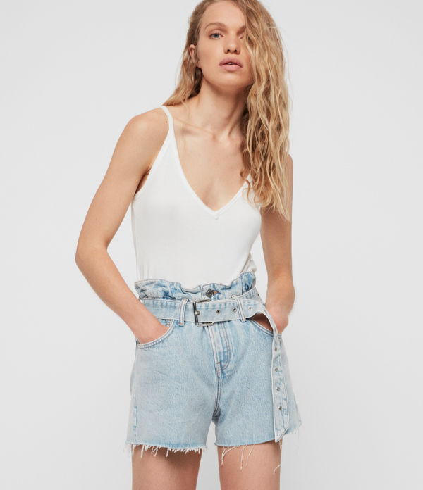 Hannah Paperbag Denim Shorts