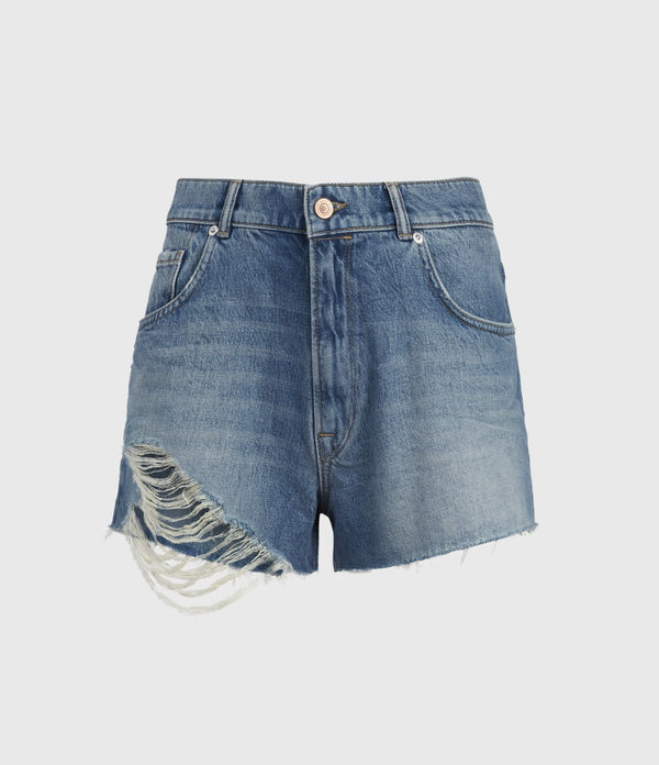 Winnie Cut Off High-Rise Denim Shorts