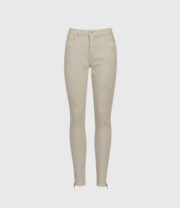 Miller Mid-Rise Superstretch Skinny Jeans, Cream