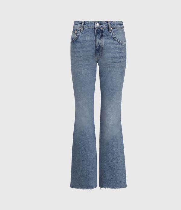 Daisy High-Rise Kick Flare Jeans, Mid Indigo