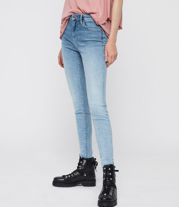 Roxanne Cropped Jean, Light Indigo Blue