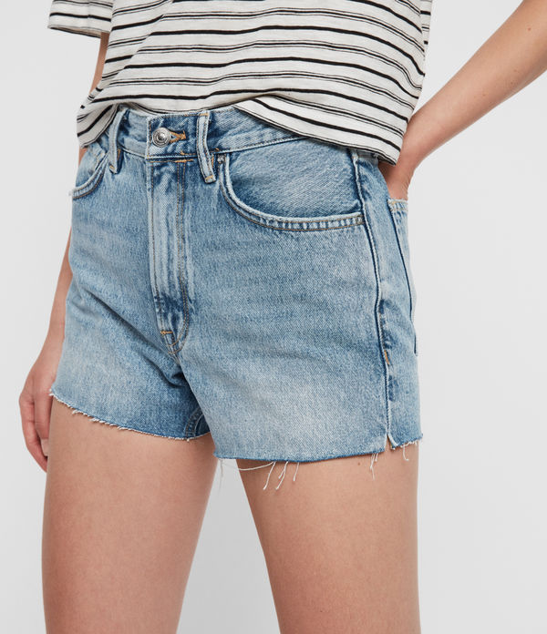Paula High-Waist Denim Shorts
