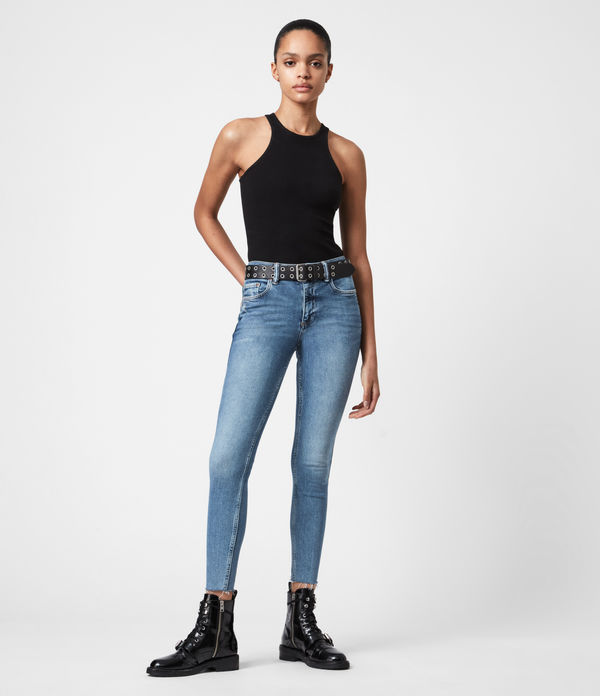 Dax High-Rise Stretch Skinny Jeans, Indigo