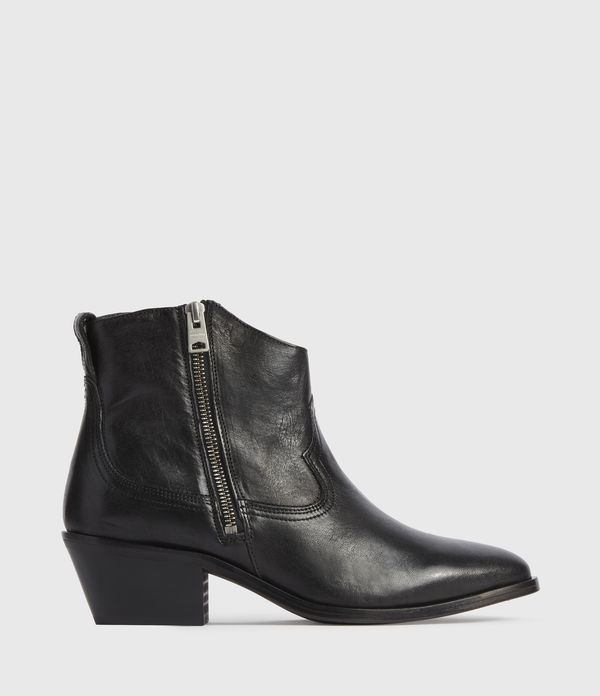 Bottines Western en Cuir Brillant Carlotta