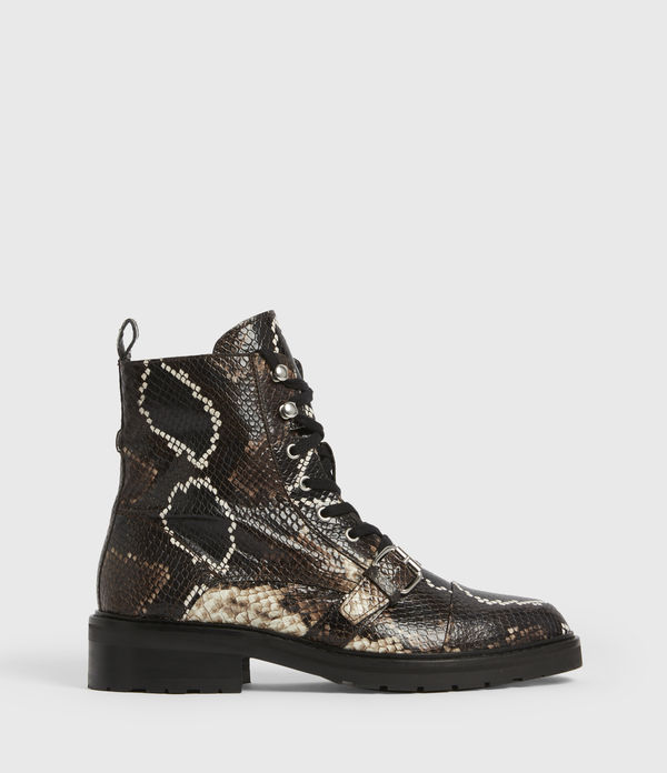 Donita Leather Snake Boots