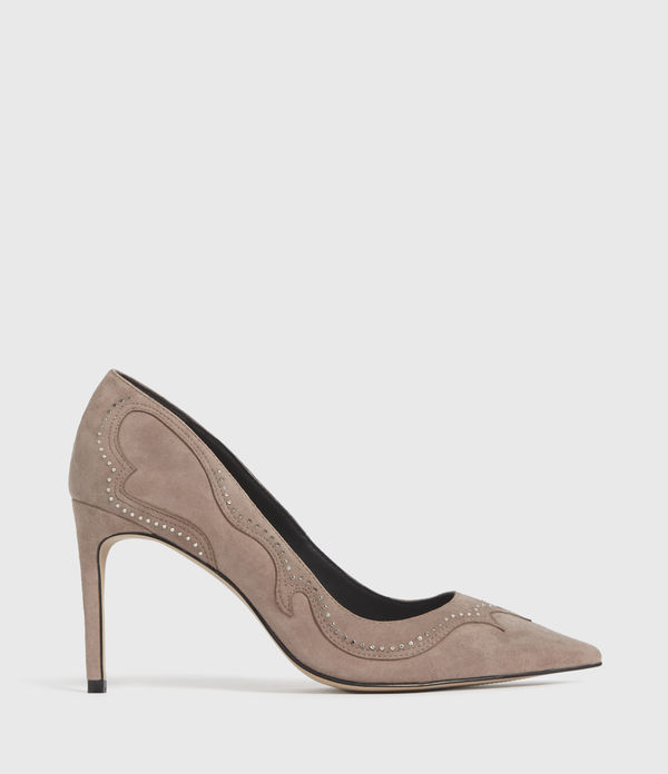 Zehra Suede Court Shoes