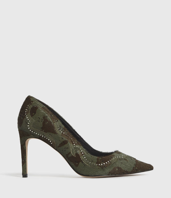 Zehra Leather Court Shoes