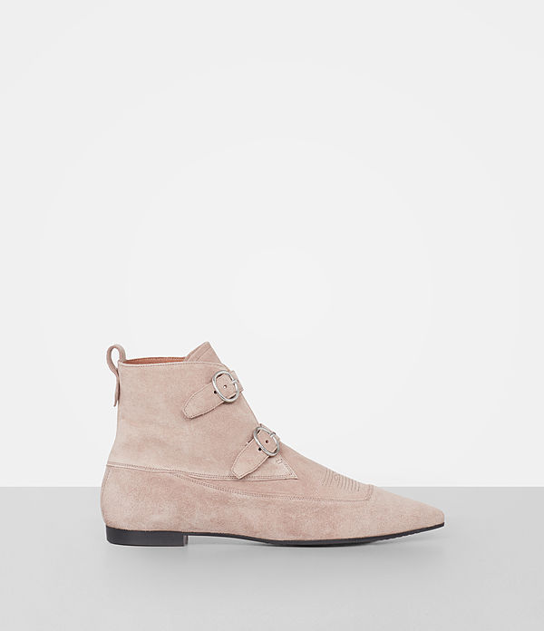 bottines en cuir velours viv
