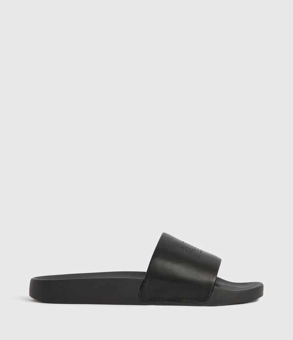 karli leather slides
