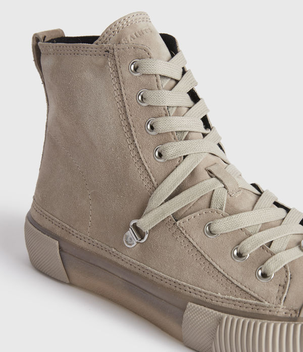 Elena High Top Suede Trainers