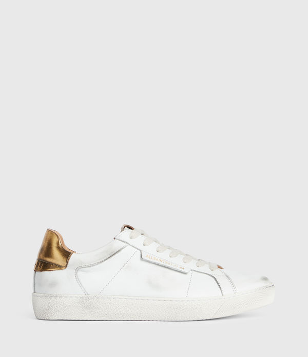 Sheer Low Top Leather Trainers