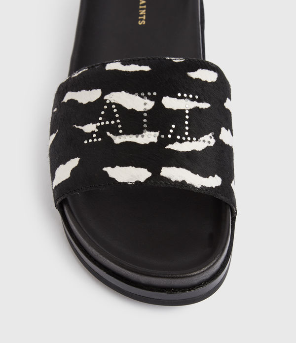 Sophie Zeb Leather Sliders