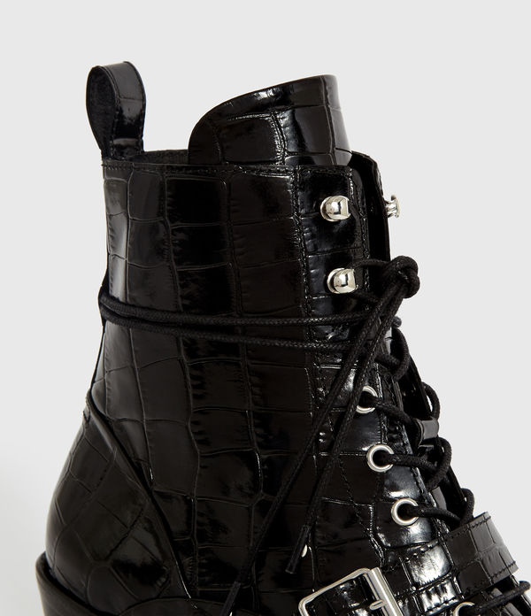 Bottines Katy Croco