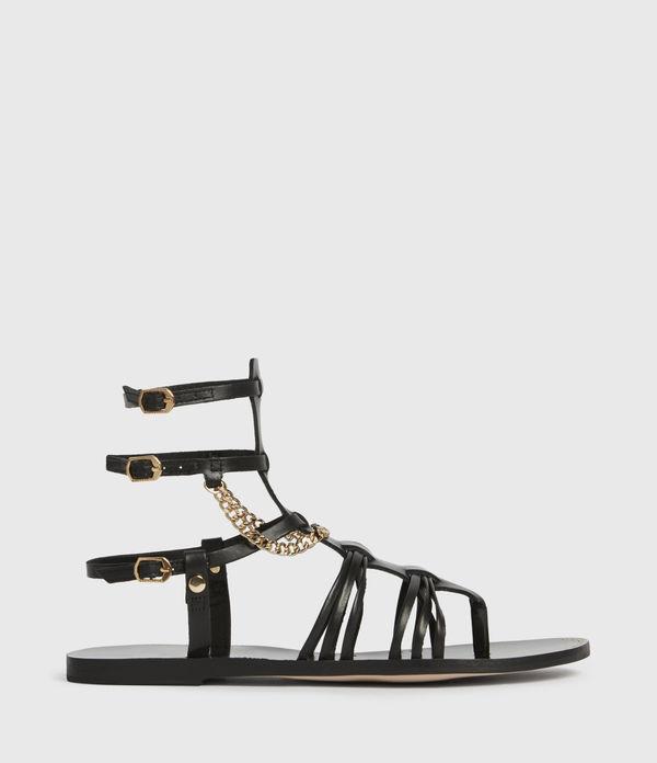 Gelda Leather Sandals