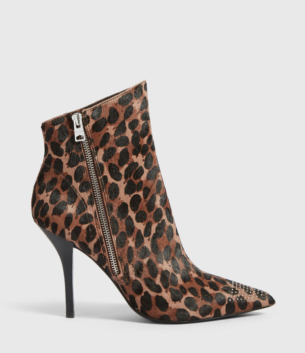 Bottines Stiletto Valeria Leopard