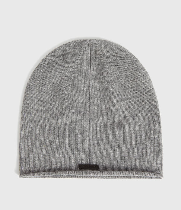 Self Rolled Edge Cashmere Blend Beanie