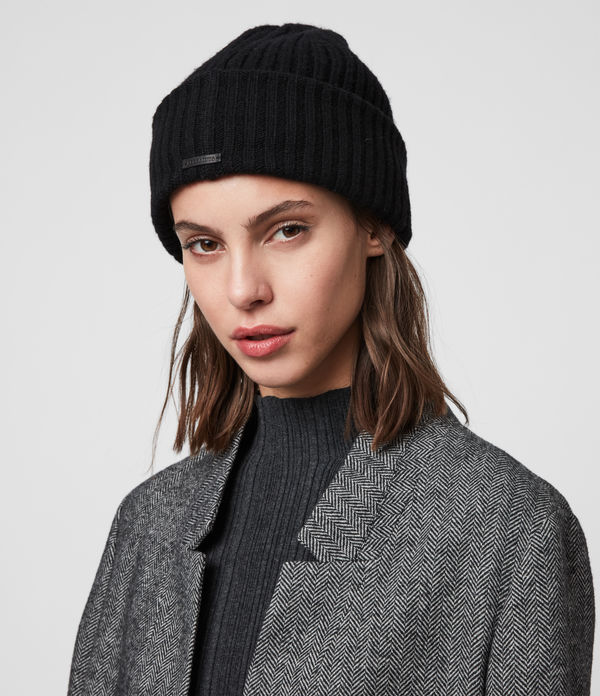 Marled Beanie - In lana a coste
