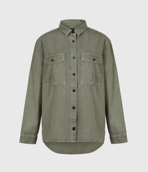 Blair Military Linen Blend Shirt