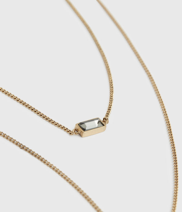 Lyric Gold-Tone Double Layer Necklace