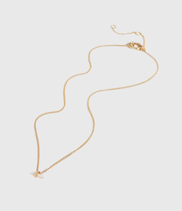 Layla Gold Tone Semi-Precious Crystal Quartz Necklace