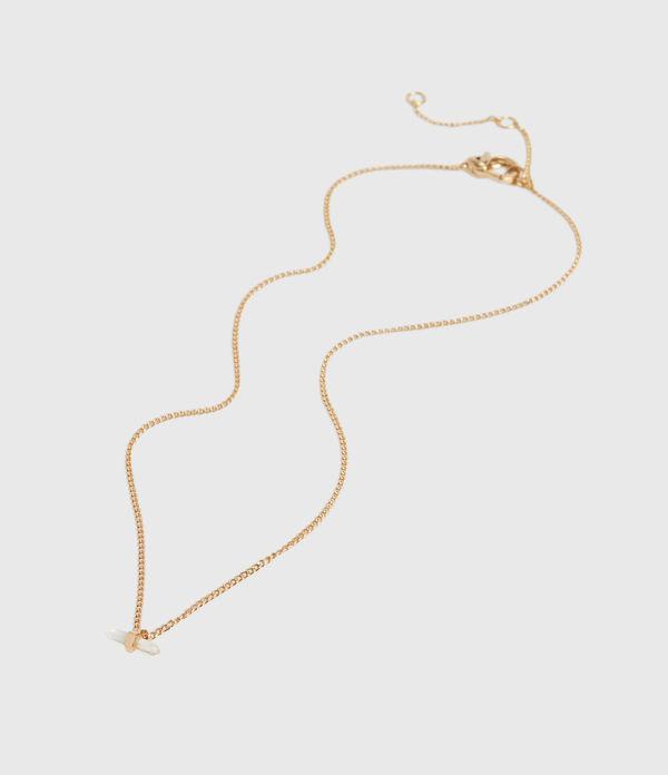 Layla Gold Tone Semi-Precious Crystal Quartz Necklace
