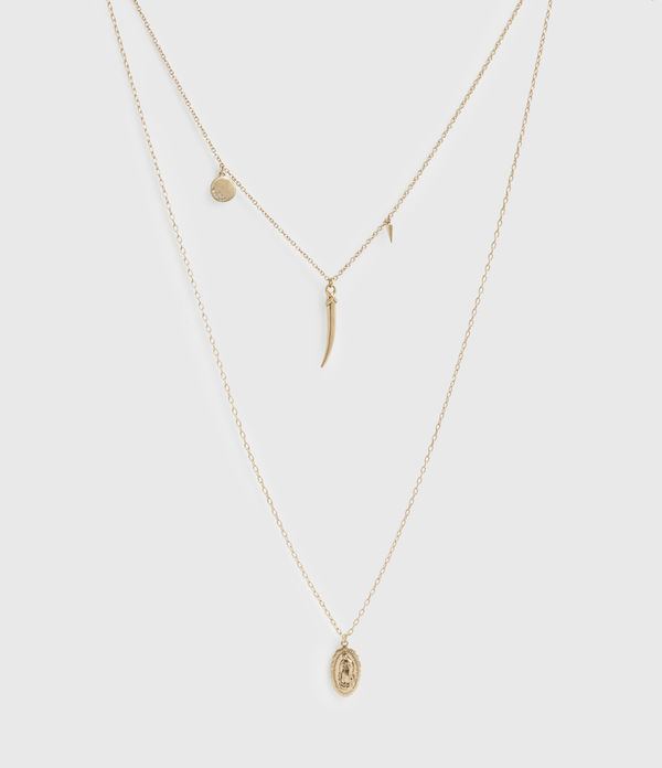 Charms Gold-Tone Pendant Necklace