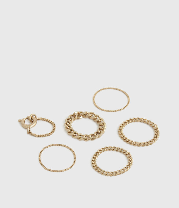 kore gold-tone 6 ring set