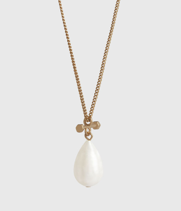 Pearldrop Gold-Tone Fresh Water Pearl Necklace