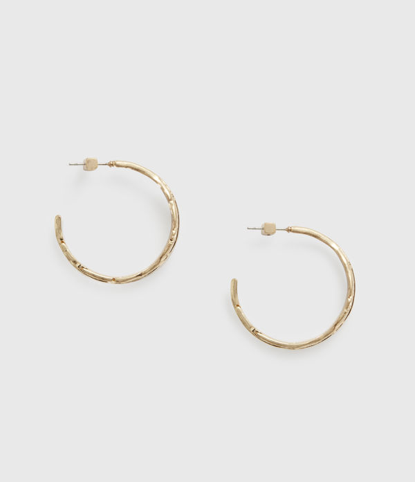 Fena Gold-Tone Hoop Earrings