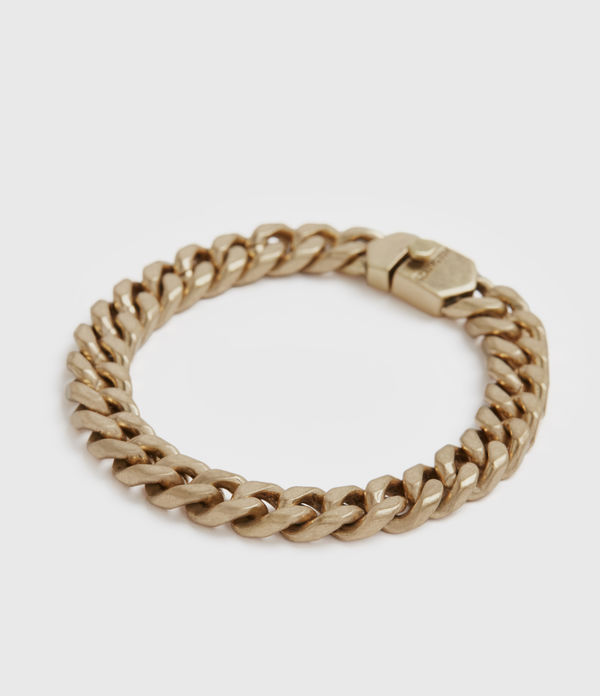 curb gold-tone chain bracelet
