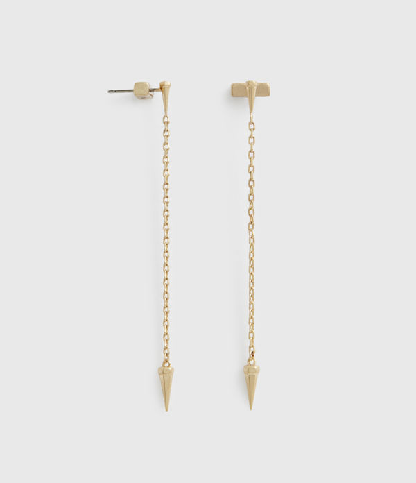 Flora Gold-Tone Drop Earrings