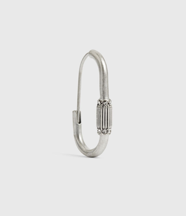 Mica Silver-Tone Hoop Earrings