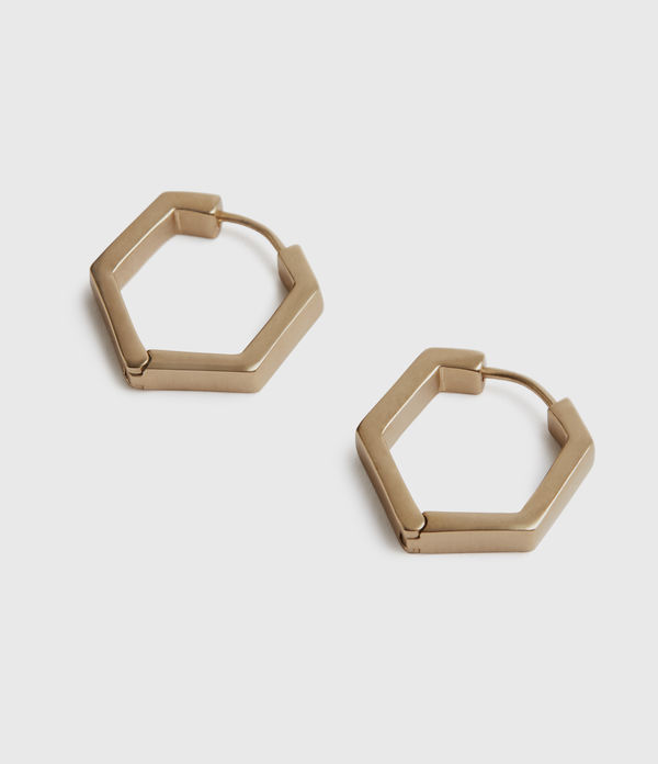 Hexhoop Gold-Tone Earrings