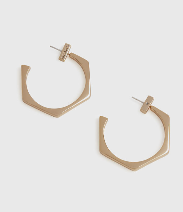 Hexpen Gold-Tone Hoop Earrings