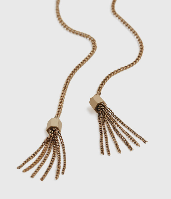 Lariat Gold-Tone Necklace