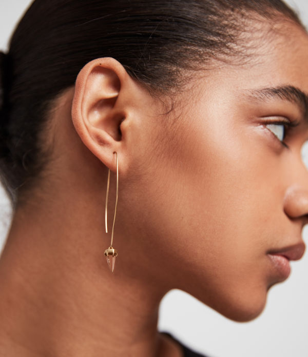 Brigitte Gold-Tone Drop Earrings