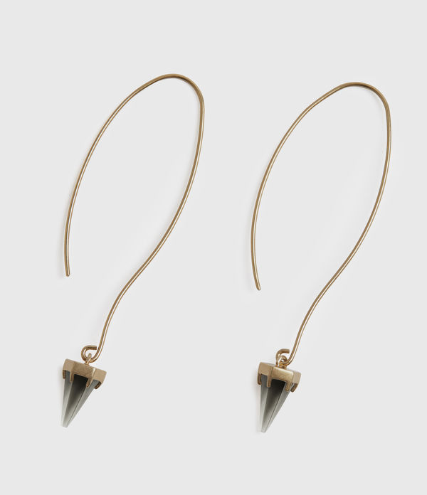 Brigitte Gold-Tone Smokey Quartz Drop Earrings
