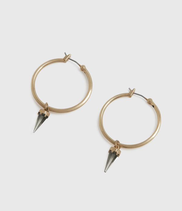 Chantal Gold-Tone Smokey Quartz Hoop Earrings