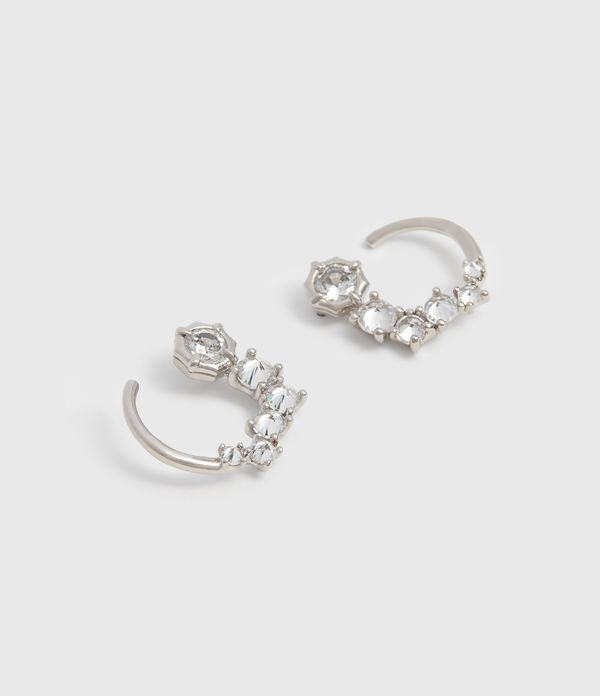 Uli Silver Tone Cubic Zirconia Earrings