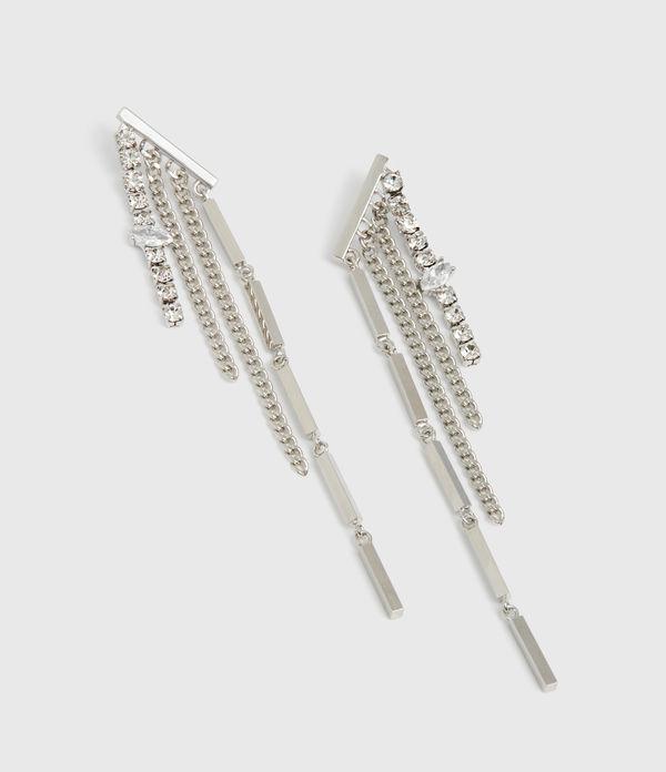 Neve Silver Tone Glass Cubic Zirconia Drop Earrings