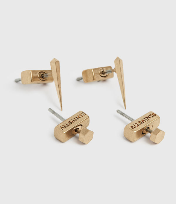 carp gold-tone earring set