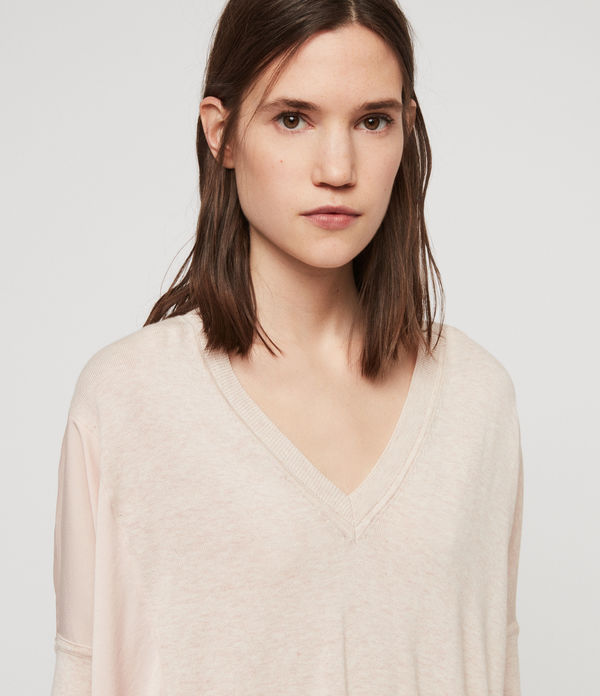 Alda Panel V-neck Sweater